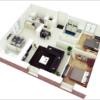Chiêm ngưỡng 7 mẫu thiết kế nhà chung cư đẹp 60m2 đầy tiện nghi