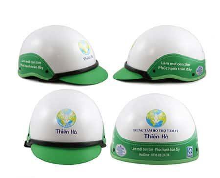 Mũ bảo hiểm in logo công ty khẳng định thương hiệu
